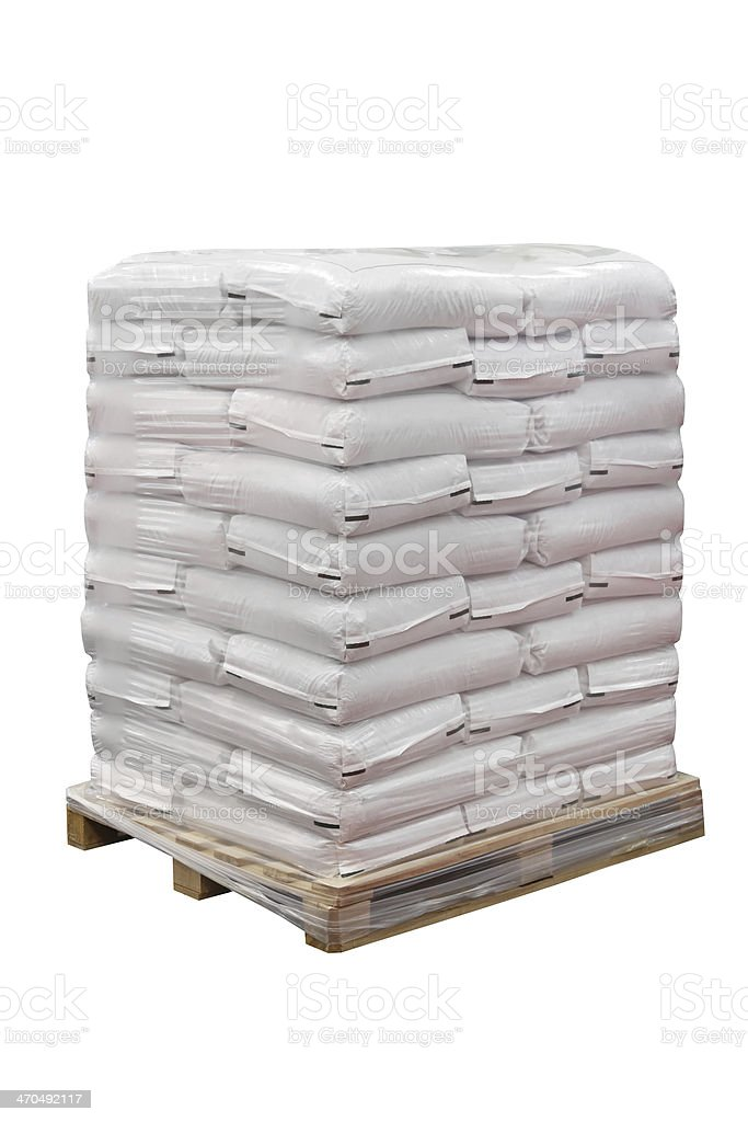 Food in sacks stock photo
