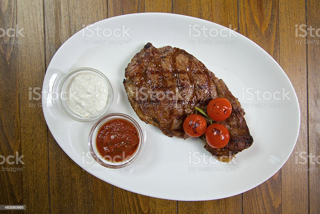 Food in the restaurant royalty-free stock photo
