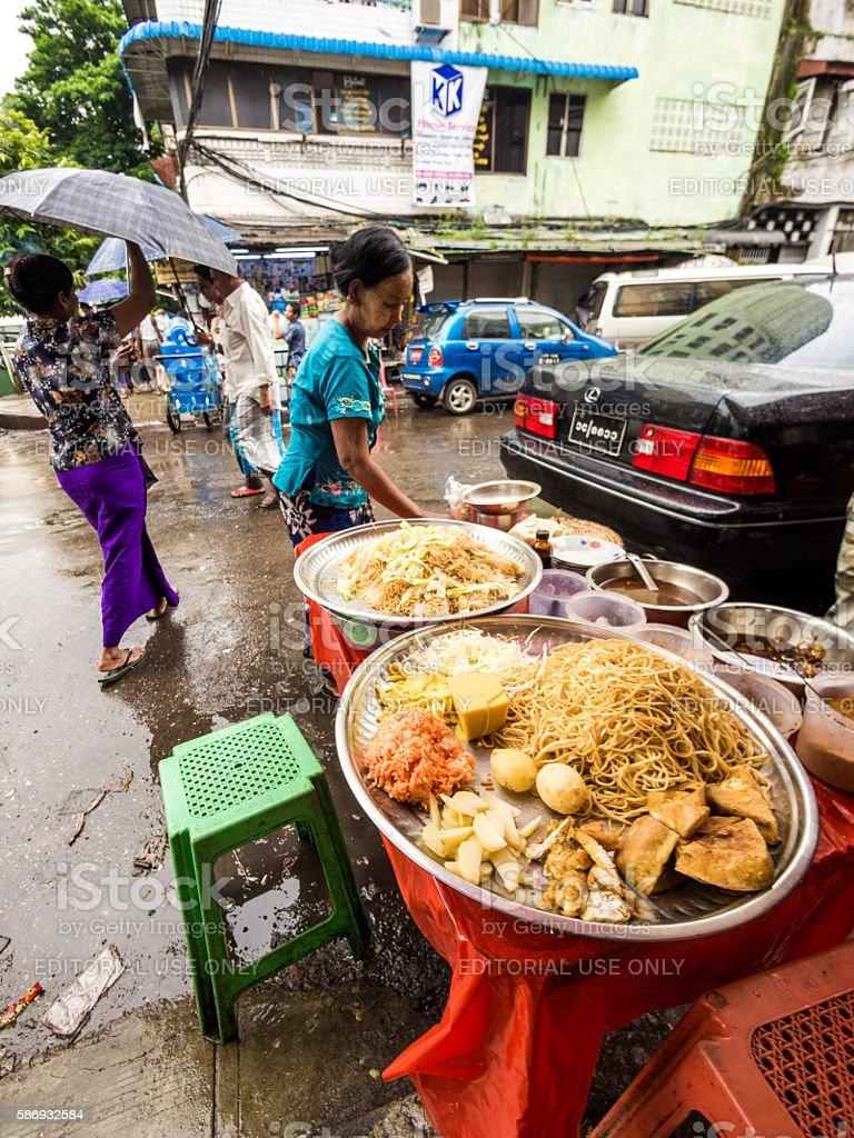 Food in Yangon, Myanmar stock photo