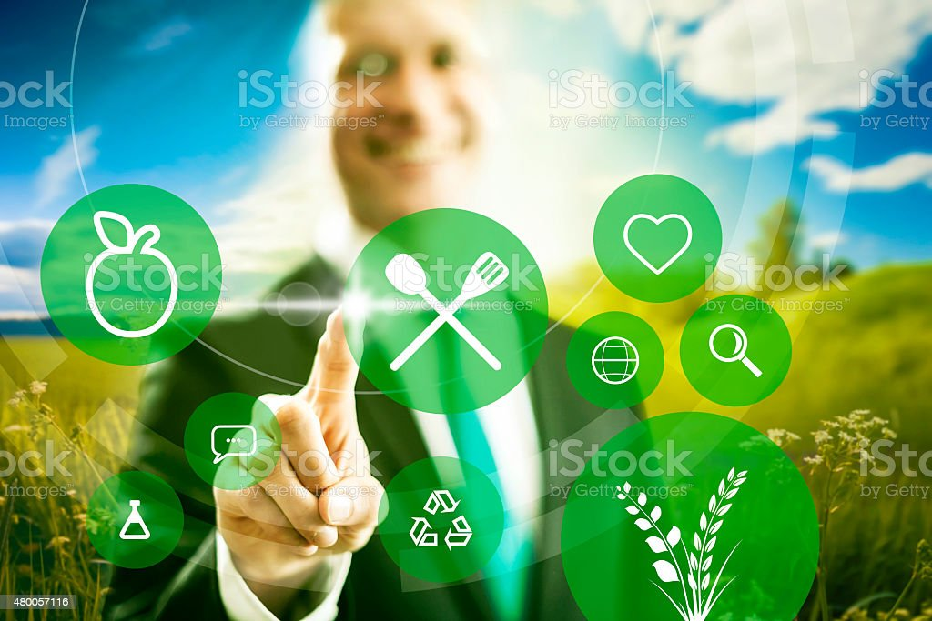 Food industry clean eating business stock photo