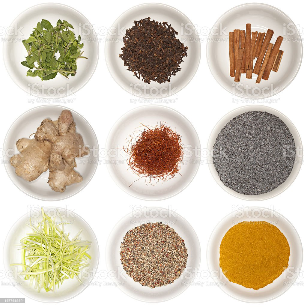 food ingredients and spices royalty-free stock photo
