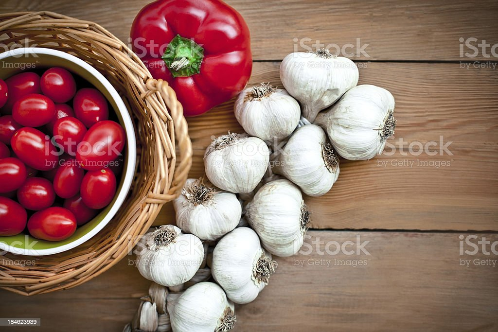 Food ingredients on the table royalty-free stock photo