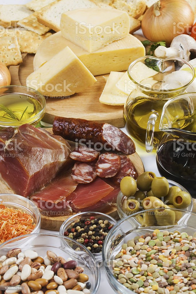 Food ingredients royalty-free stock photo