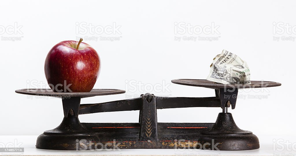 food is more valuable than money stock photo