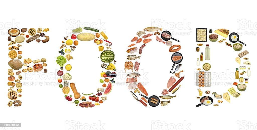 food isolated on white background royalty-free stock photo