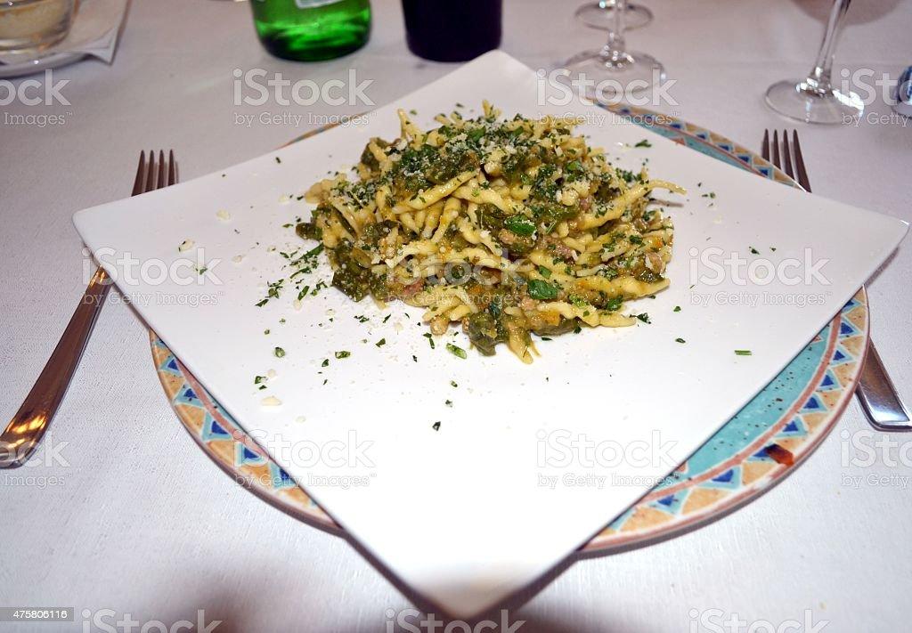 Food. Italian pasta stock photo