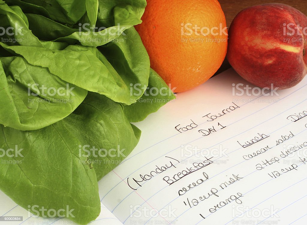 food journal stock photo