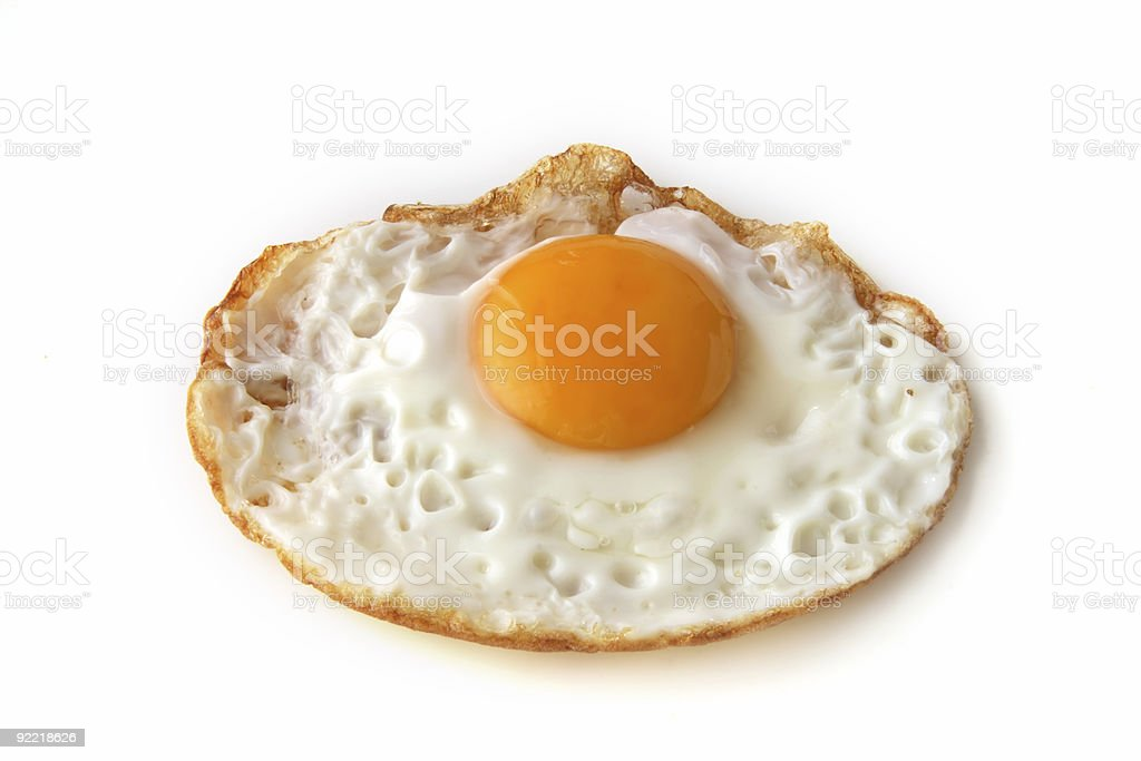 food - just fried egg on white royalty-free stock photo