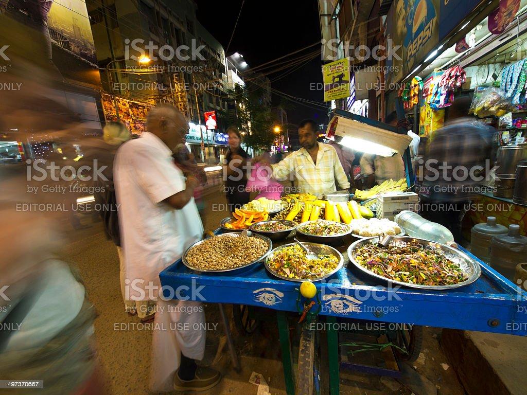 Food kiosk stock photo