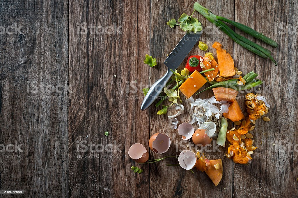 Food leftovers stock photo