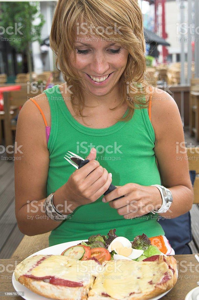 Food makes me happy royalty-free stock photo