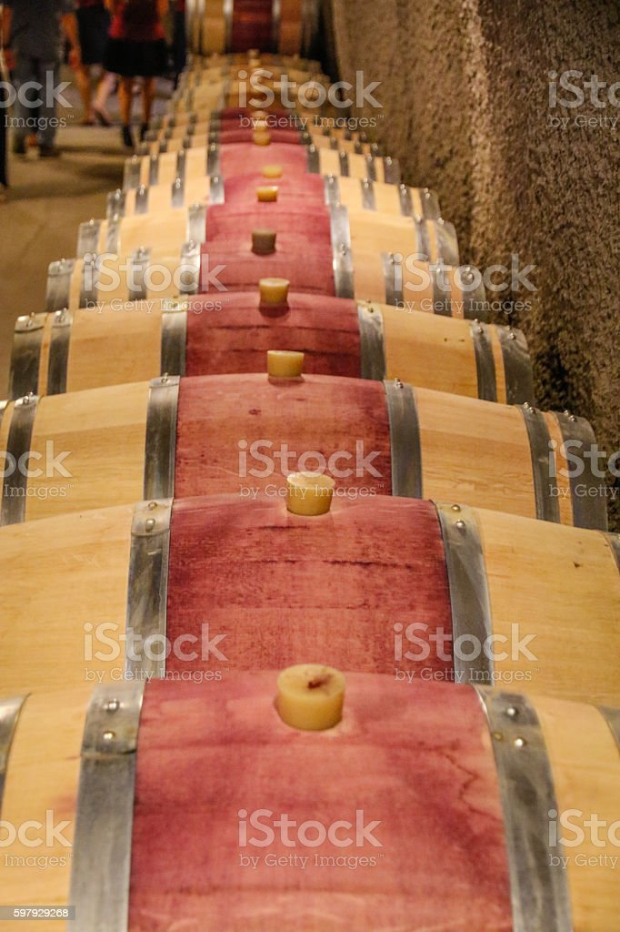 Food: Making wine stock photo