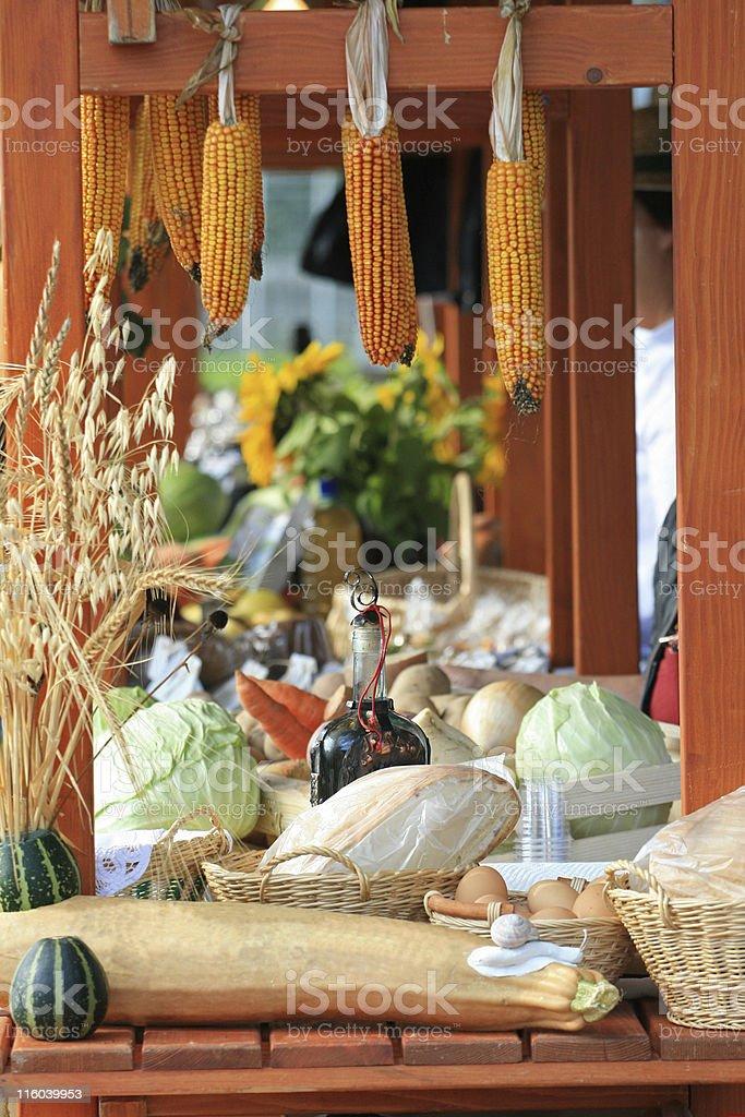 Food market stall royalty-free stock photo