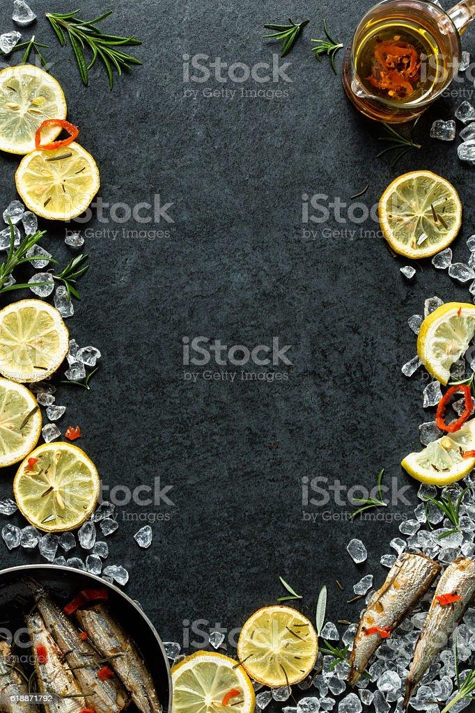 Food menu background - lemon stock photo