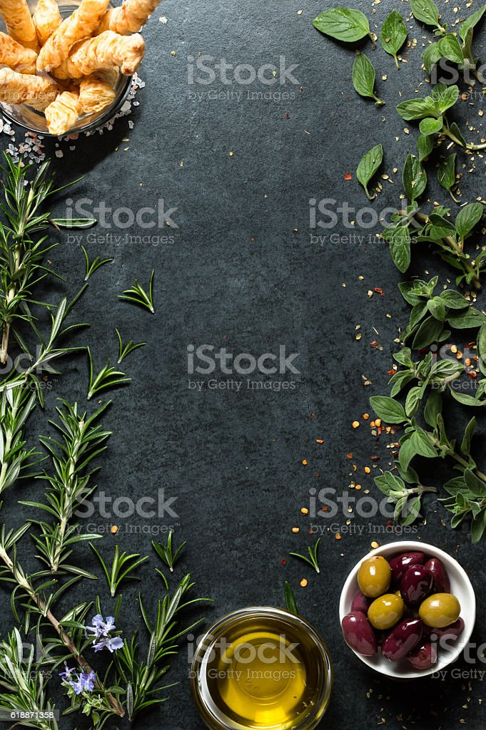 Food menu background stock photo