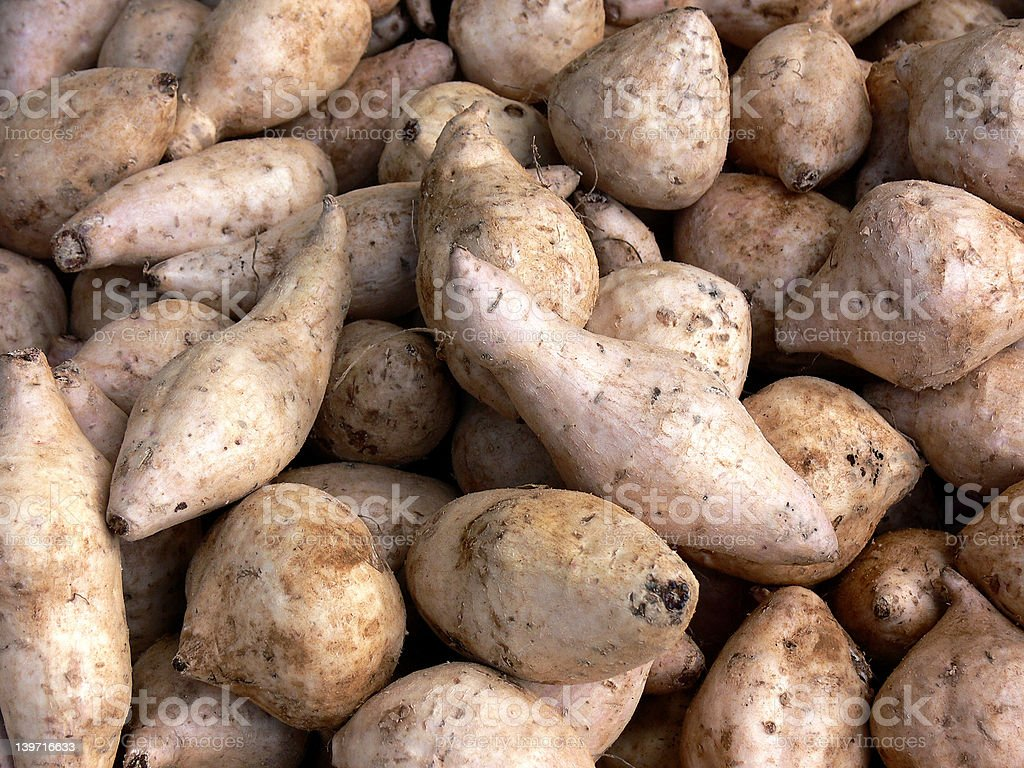 Food - Okinawan sweet potato stock photo