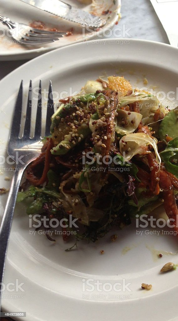 Food on dish stock photo