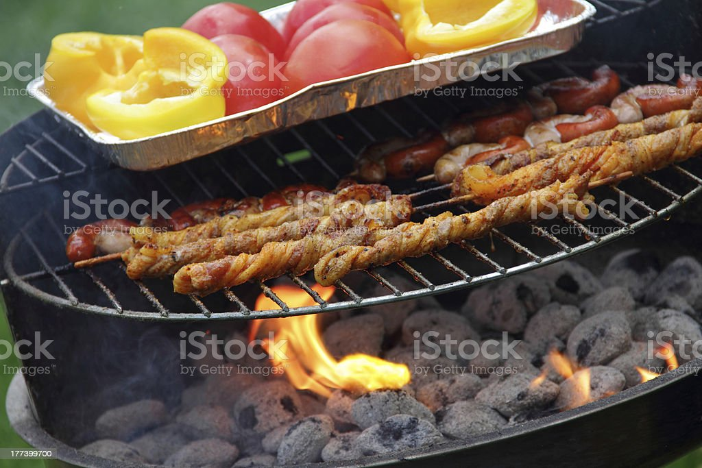 food on grill stock photo