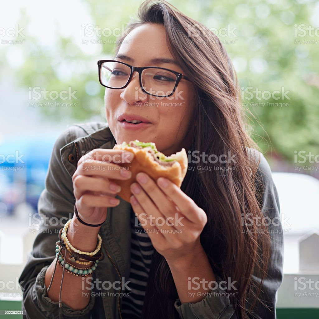 Food on the go stock photo