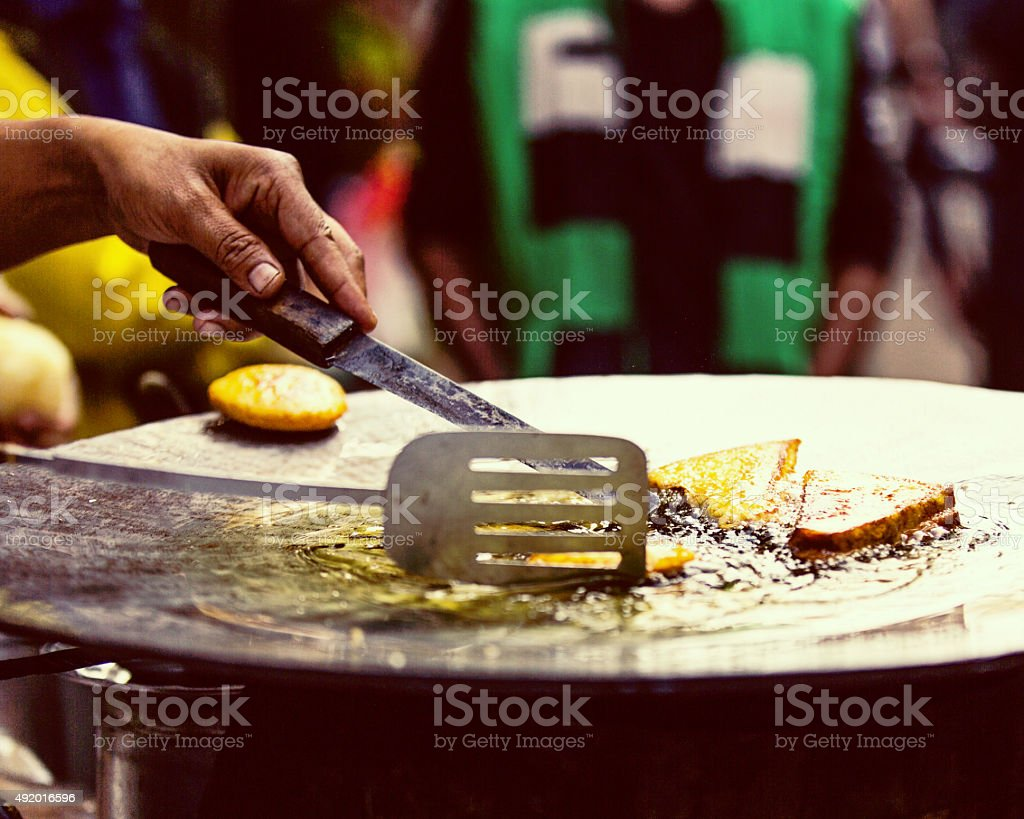 Food on the streets of India stock photo