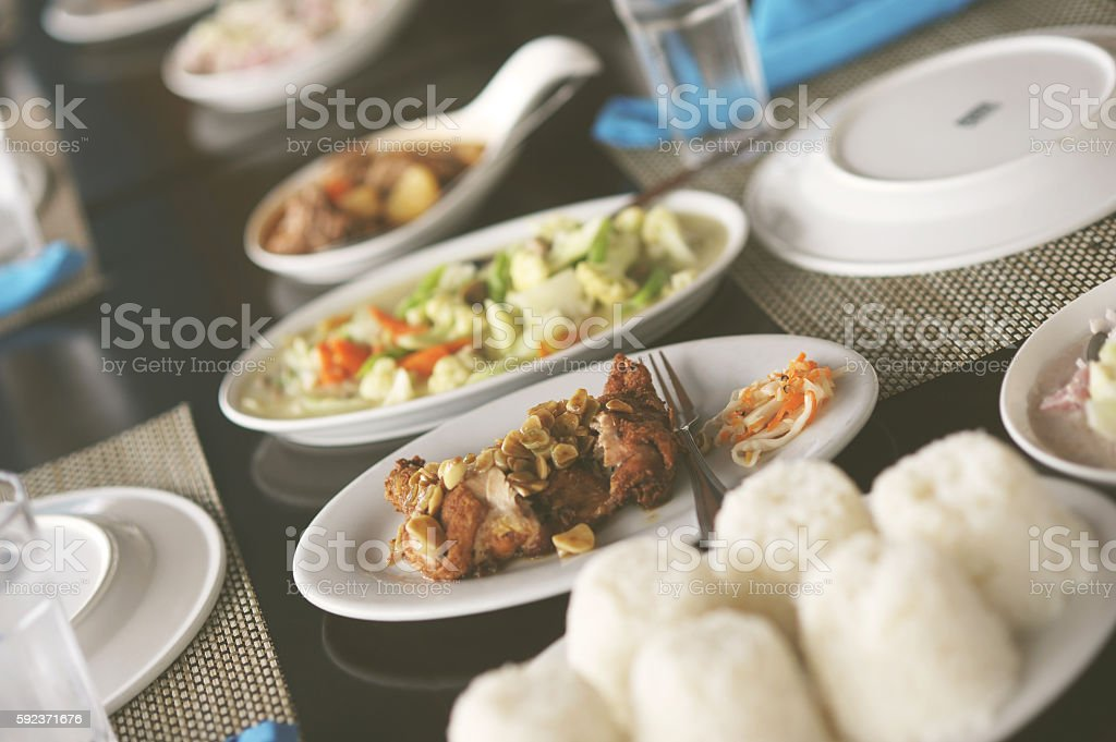 Food on the table stock photo