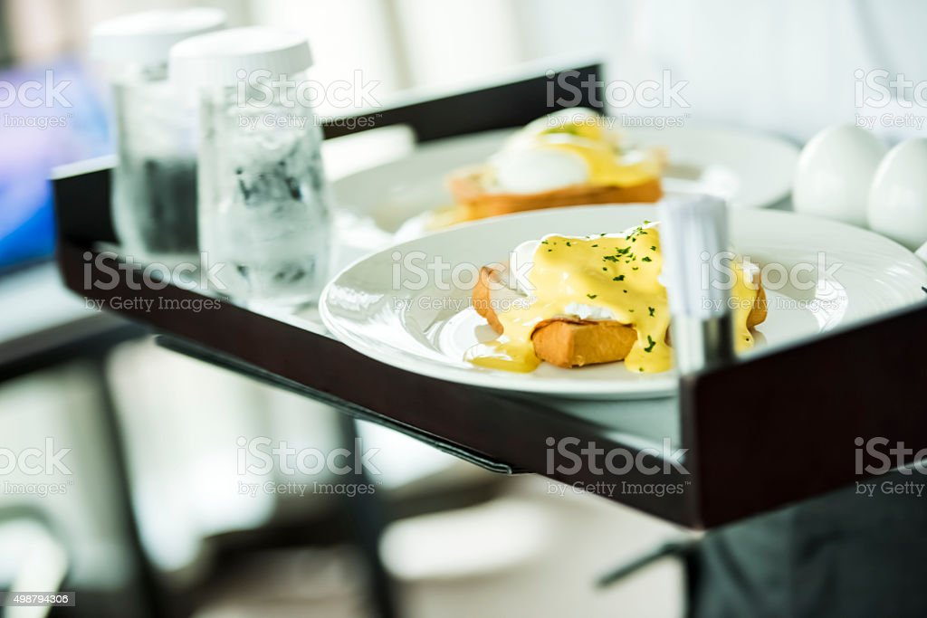 Food on tray stock photo