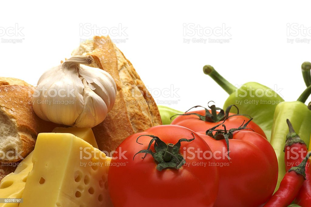 food on white background royalty-free stock photo