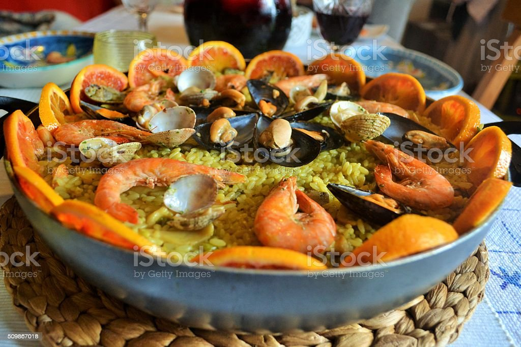 Food, paella stock photo