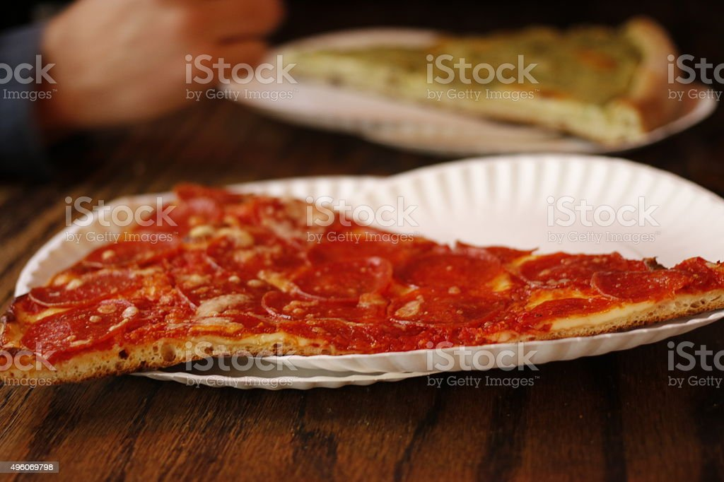 Food: Pizza slice stock photo