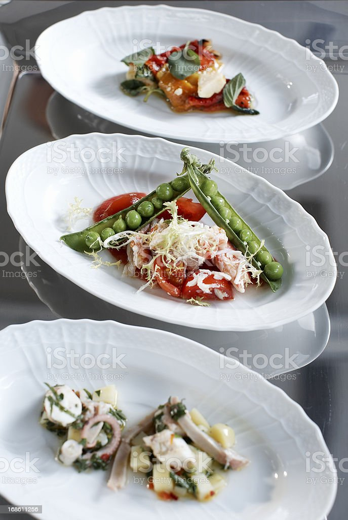 Food plates stock photo