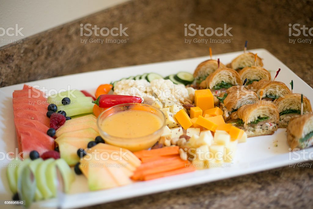 Food Platter at Catered Event stock photo