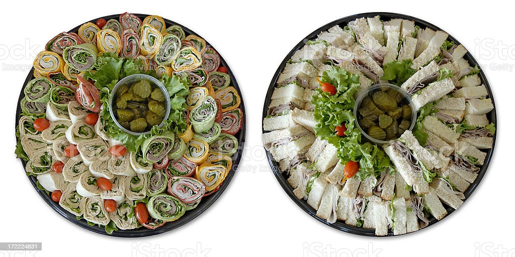 Food Platters royalty-free stock photo