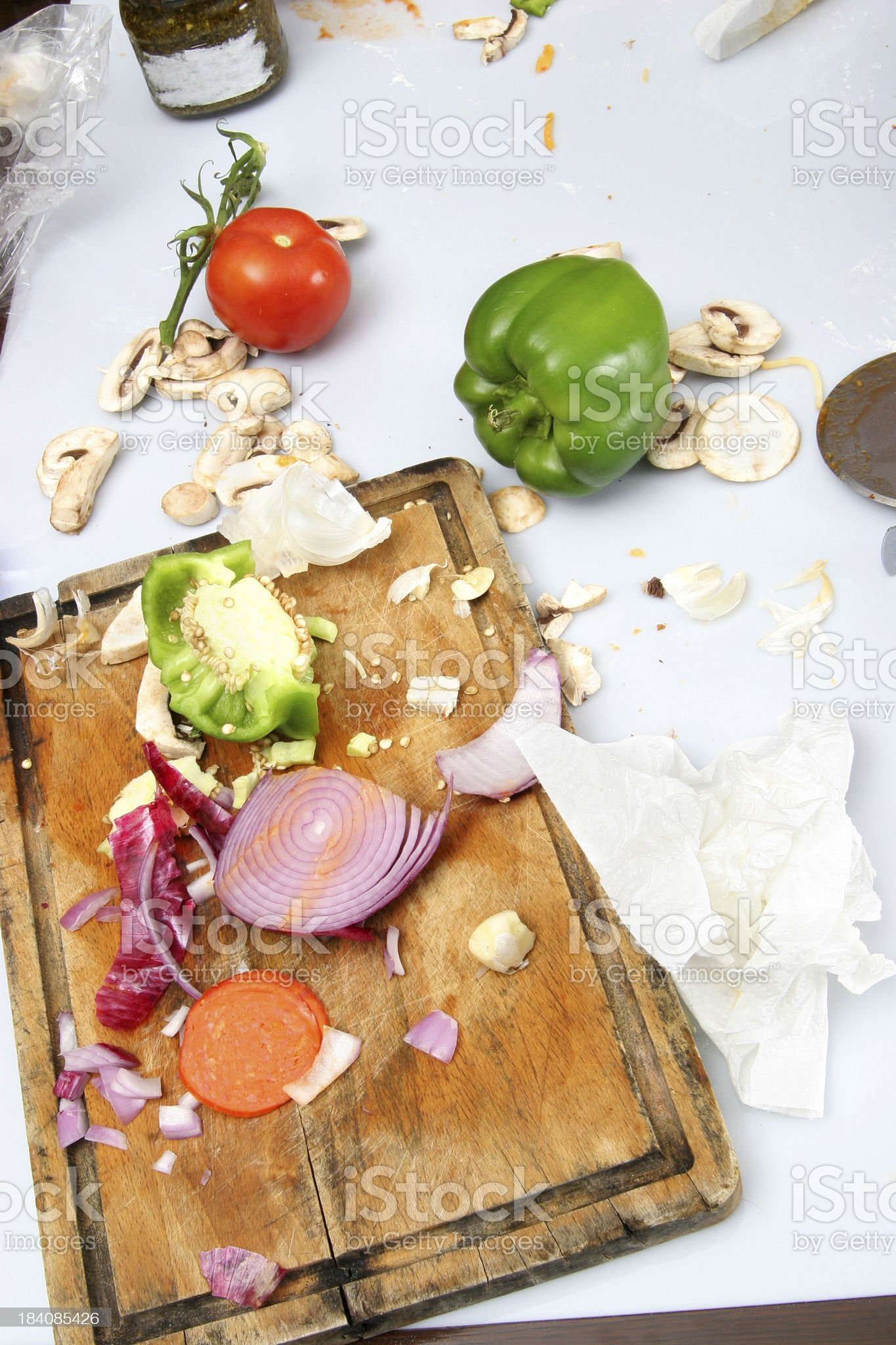 Food Preparation - Cleanup Time 1 royalty-free stock photo