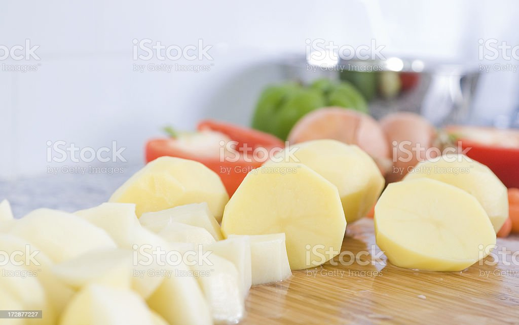 Food preparation royalty-free stock photo