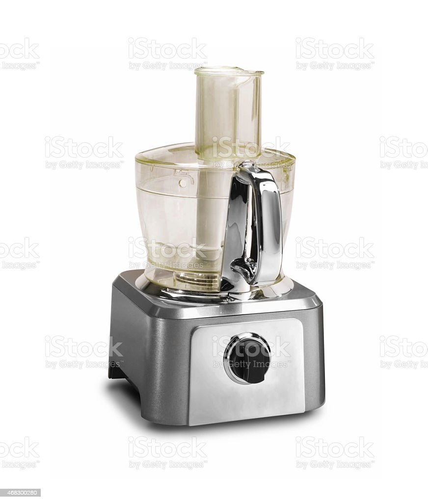 Food processor isolated on a white background stock photo