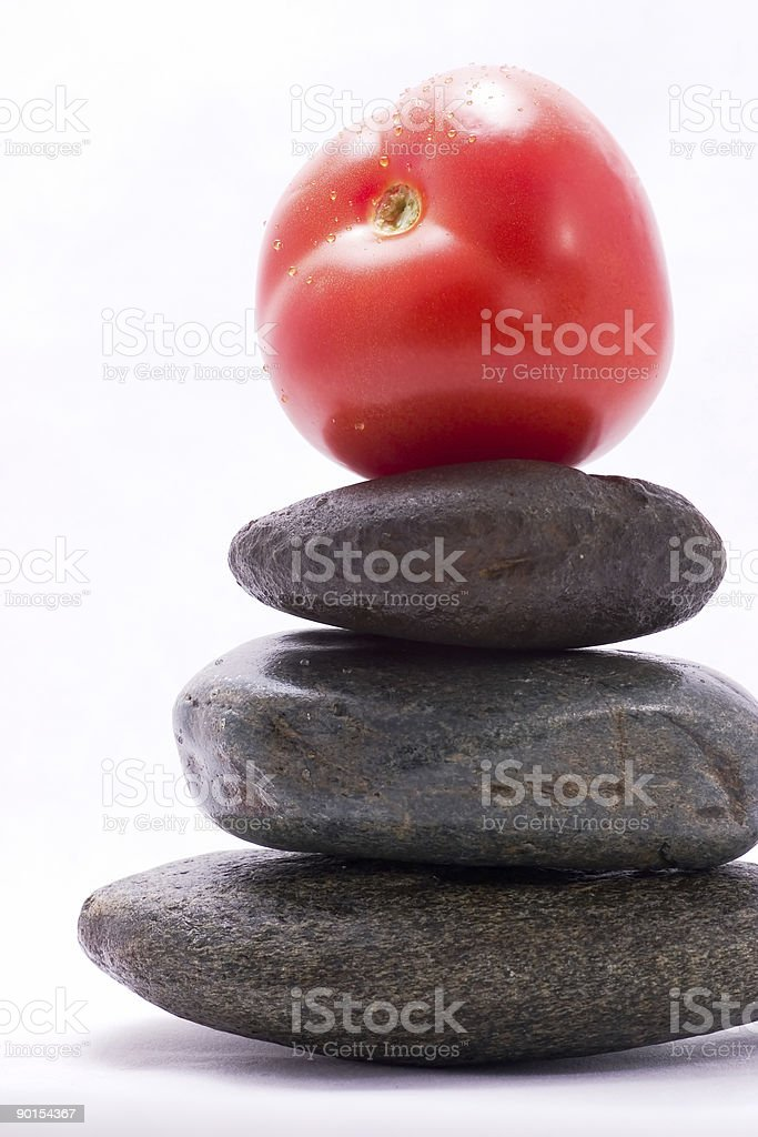 Food pyramid - tomato royalty-free stock photo