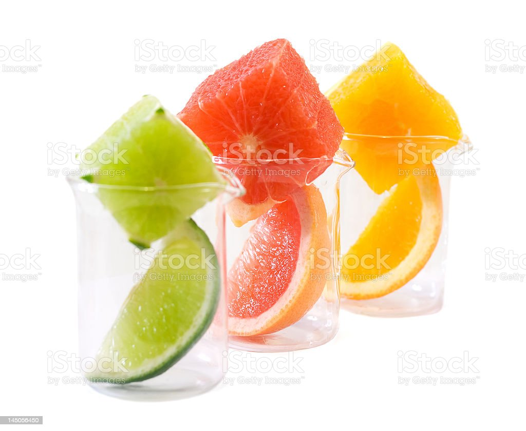 Food research - citrus mix royalty-free stock photo