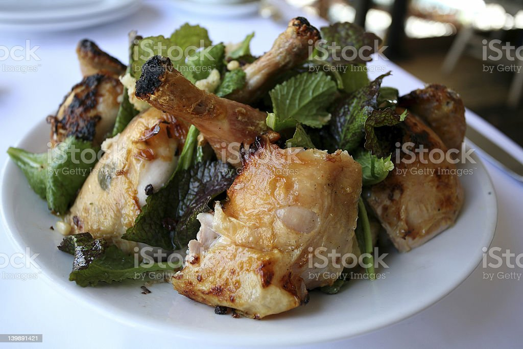 Food - Roast Chicken French style royalty-free stock photo