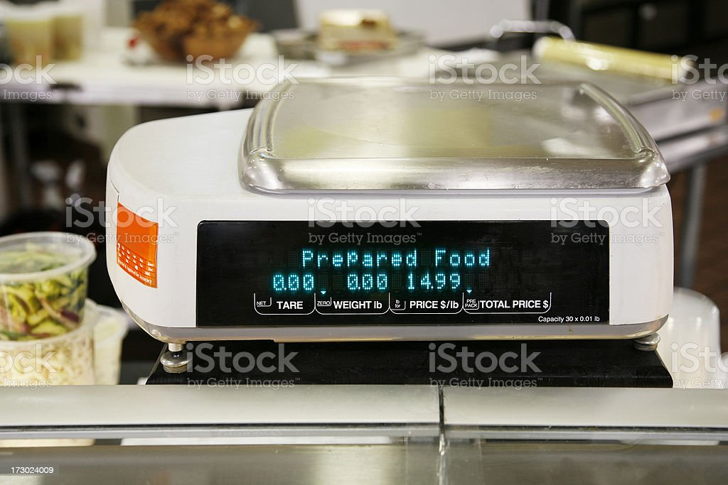 Food scale royalty-free stock photo