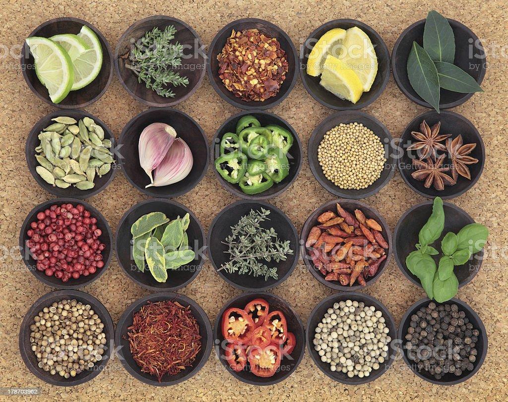 Food Seasoning Sampler royalty-free stock photo