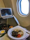 Food served on board of Aeroflot Flight