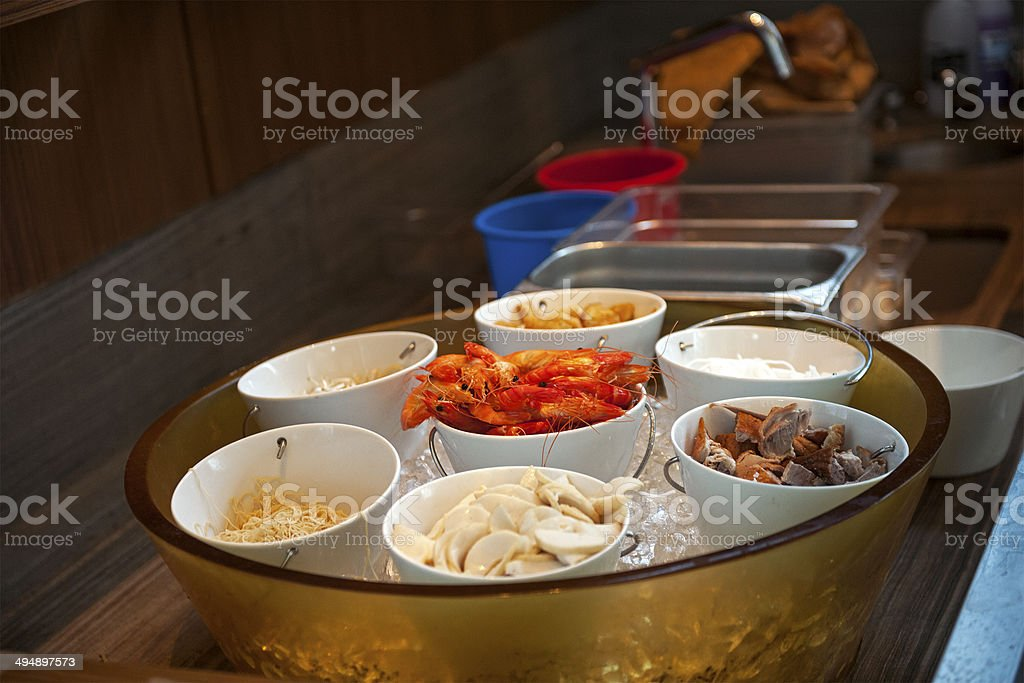 Food served on ice royalty-free stock photo