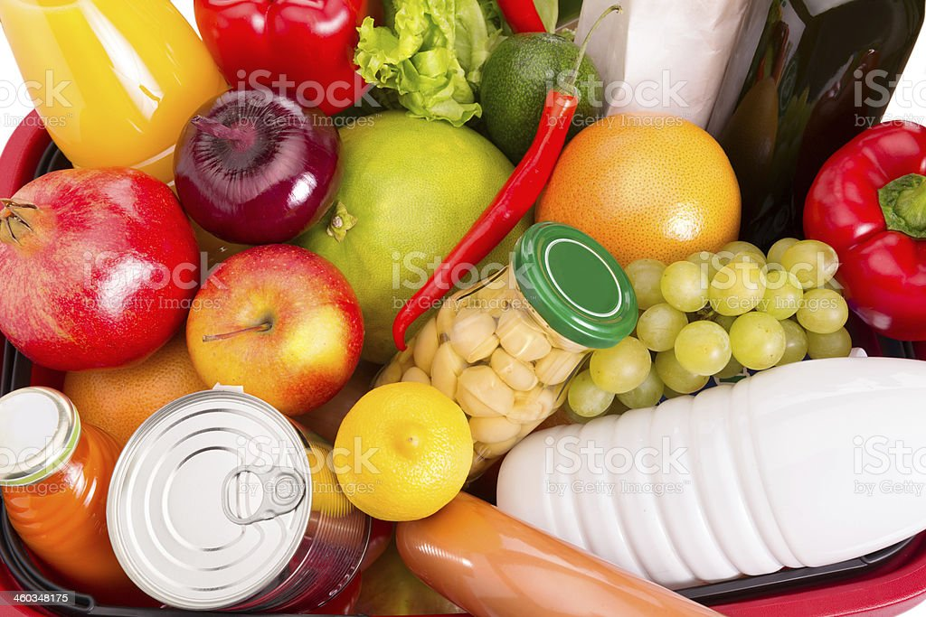 Food set stock photo