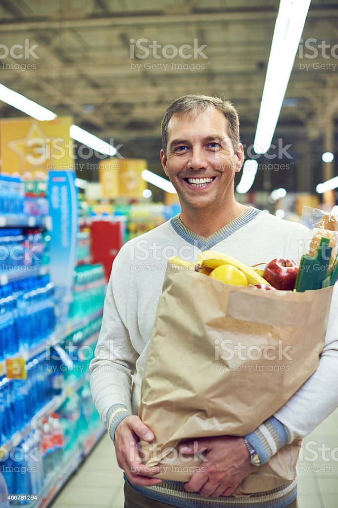 Food shopping stock photo