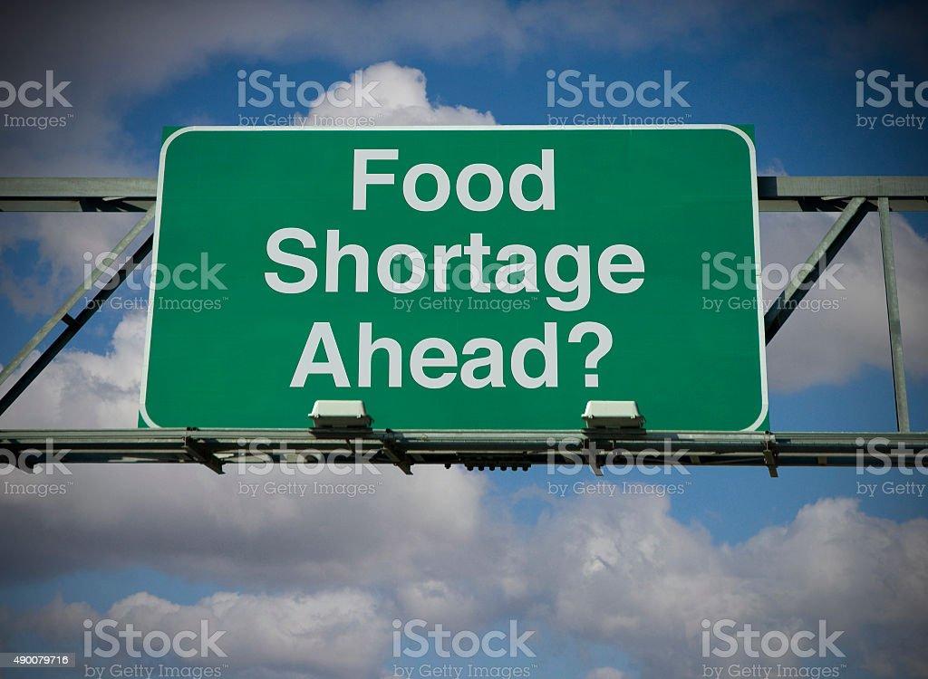 Food Shortage Ahead? stock photo