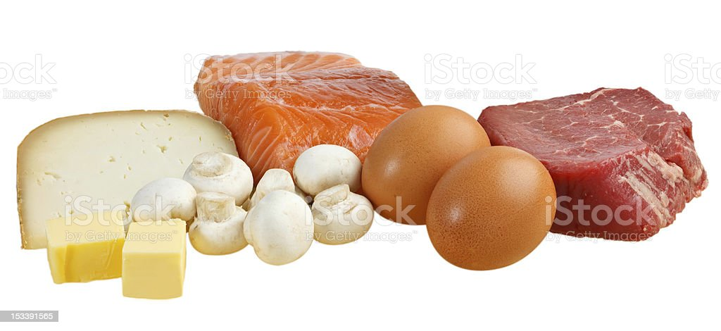 Food sources of vitamin D stock photo