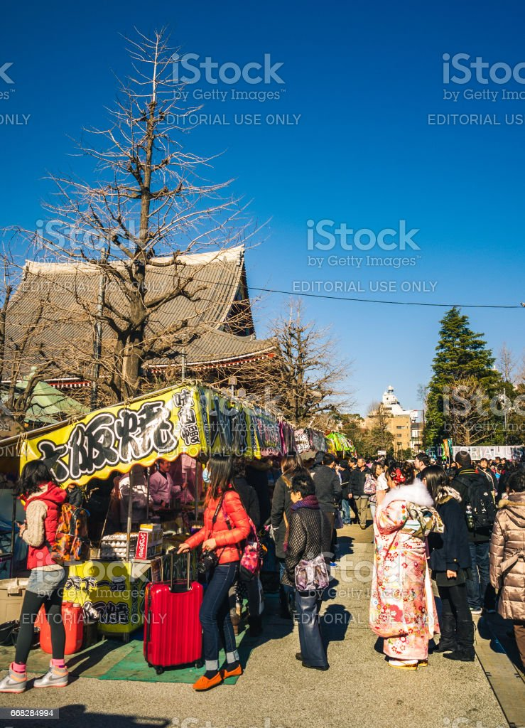 Food stall at festival stock photo