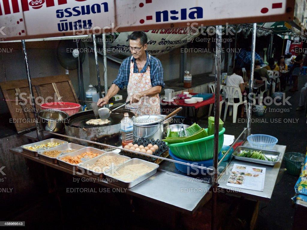 Food stall in Bangkok stock photo