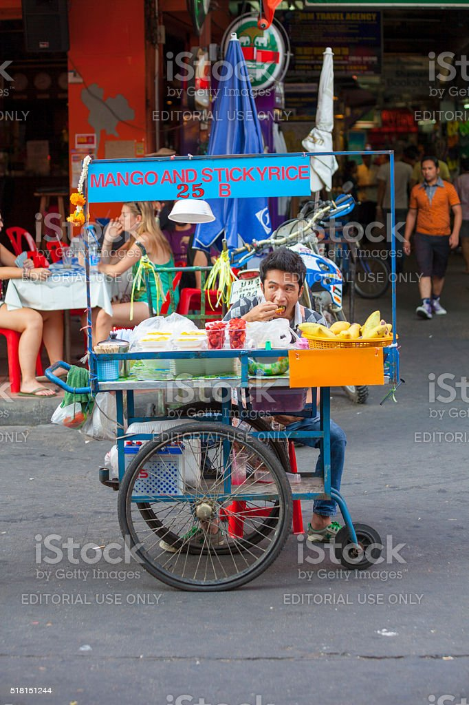 Food Stall in Bangkok, Thailand stock photo