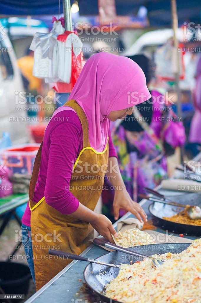 Food Stall in Langkawi, Malaysia stock photo